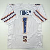 $124 » Autographed/Signed Kadarius Toney Florida White College Football Jersey JSA COA