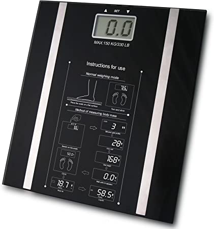 Up To 250KG Weight Electronic Digital Scales Body Fat Weighing Scale Black UK