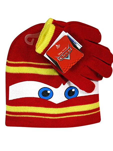 00fc2e0392f Image Unavailable. Image not available for. Color  Disney Cars Lightning  Mcqueen Winter Beanie Hat ...