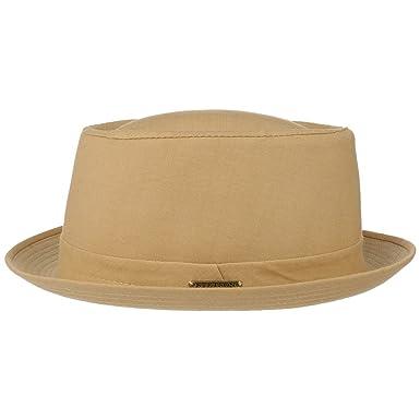 Athens Cotton Porkpie Hat Stetson cloth hat cloth trilby (61 cm - beige) fab1bfad7ca