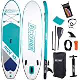 "ACOWAY Inflatable Stand Up Paddle Board,10'6"" Long 32"" Wide 6"" Thick
