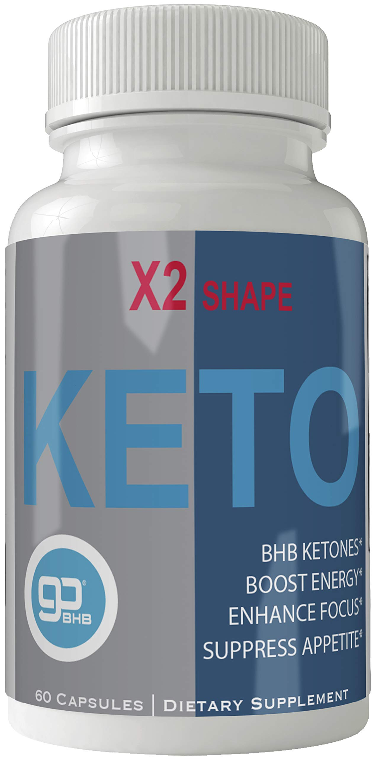 X2 Shape Keto Pills for Weight Loss, Extreme Natural Ketogenic Burn Fat Supplement, 800 mg Formula with New GO BHB Salts Formula, Advanced Appetite Suppressant Capsules