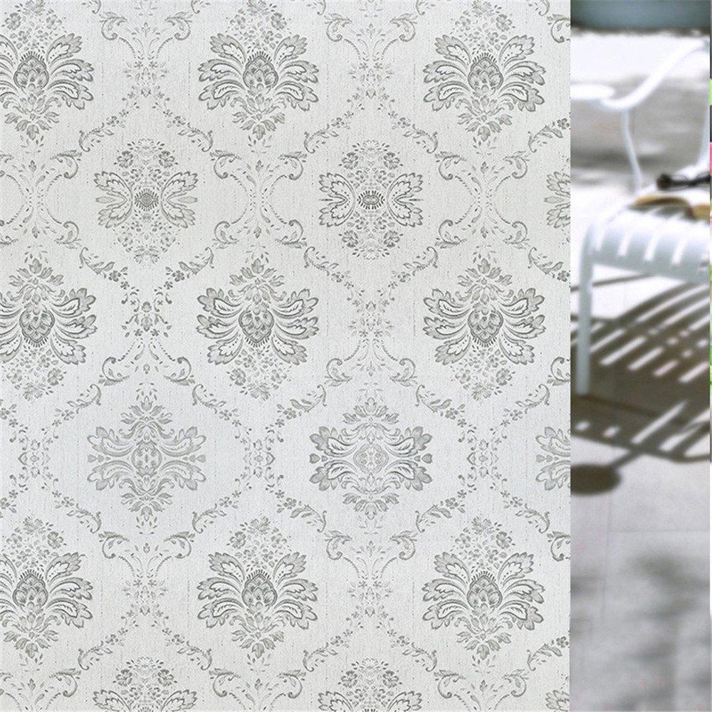 Velimax No-Adesivo Decorativa Privacy Pellicola per Finestre Refrazione Riutilizzabile Pellicola Statica Anti-UV Blocca Raggi (45CM by 200CM)