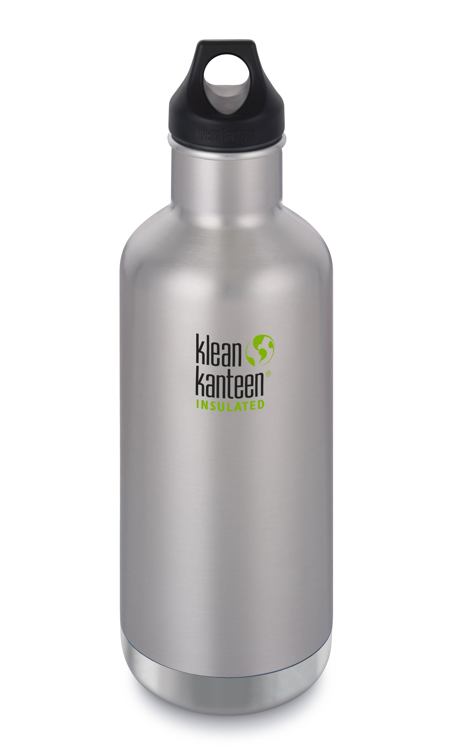 Klean Kanteen Classic Insulated Stainless Steel Water Bottle with Leak Proof Loop Cap - 32oz - Brushed Stainless