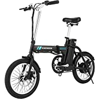 ANCHEER Folding Electric Bike, 16 Inch Collapsible Electric Commuter Bike Ebike with 36V 8Ah Lithium Battery (Sliver)