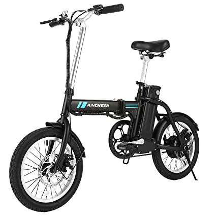 Electric Commuter Bike >> Amazon Com Ancheer Folding Electric Bike 16 Inch Collapsible