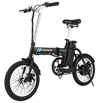 Electric Commuter Bike >> Ancheer Folding Electric Bike 16 Inch Collapsible Electric Commuter Bike Ebike With 36v 8ah Lithium Battery