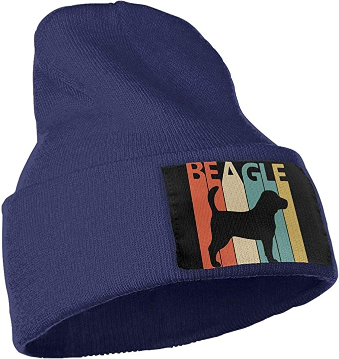 Vintage 1970s Beagle Dog Fashion Beanie Hat TGSCBN Mens and Womens 100/% Acrylic Knitting Hat Cap