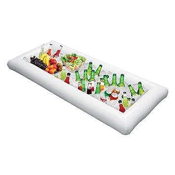 Bandeja hinchable para bebidas con forma de buffet para servir y ensalada, hielo, enfriador