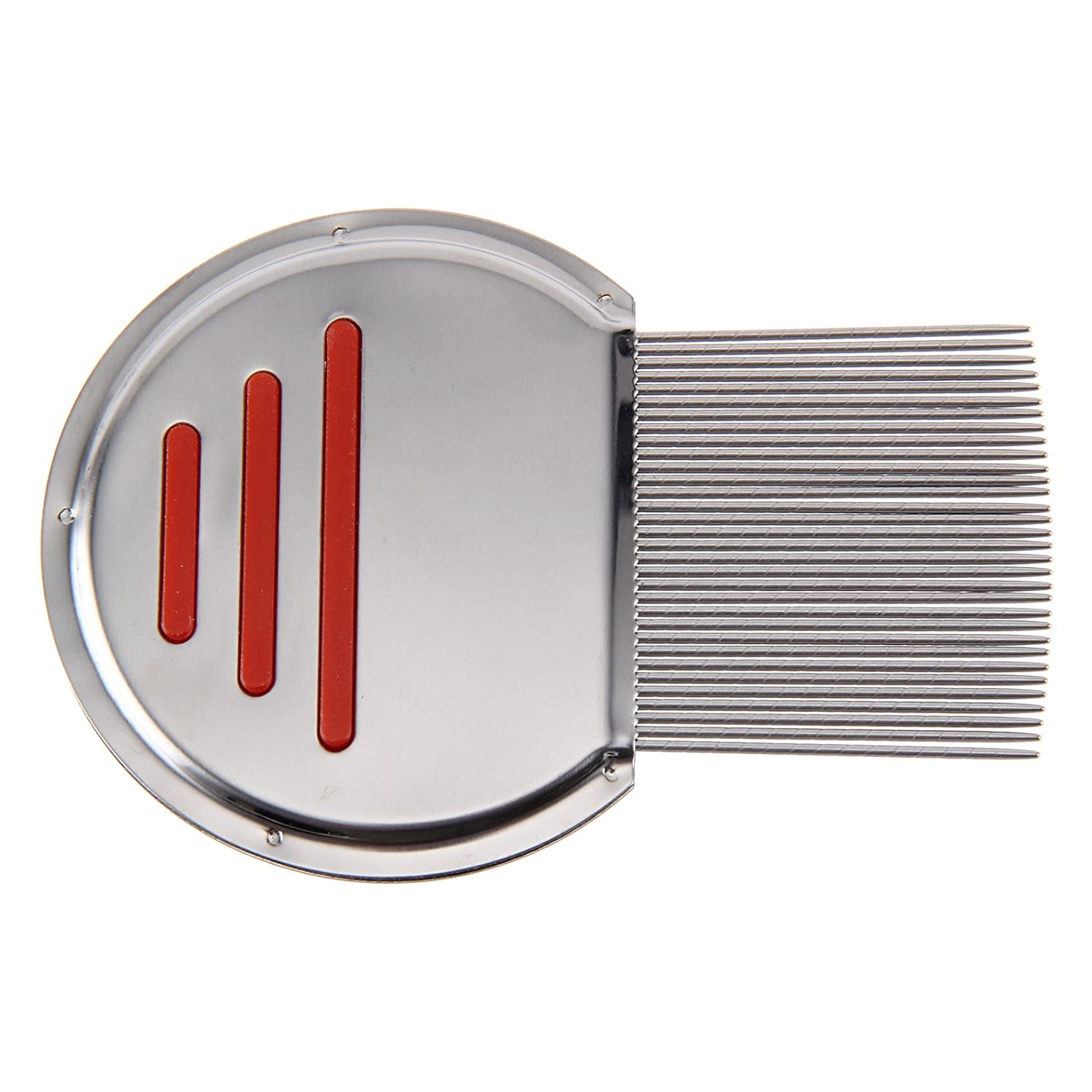 AllRight Lice Nit Get Down To Nitty Gritty Stainless Steel Removal Comb Metal Teeth Red oem
