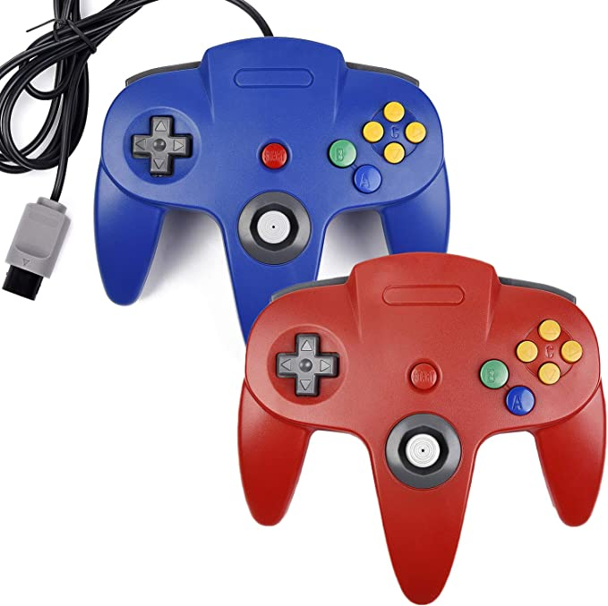 2 mandos clásicos N64 para Consola N64, Sistema de Videojuegos ...