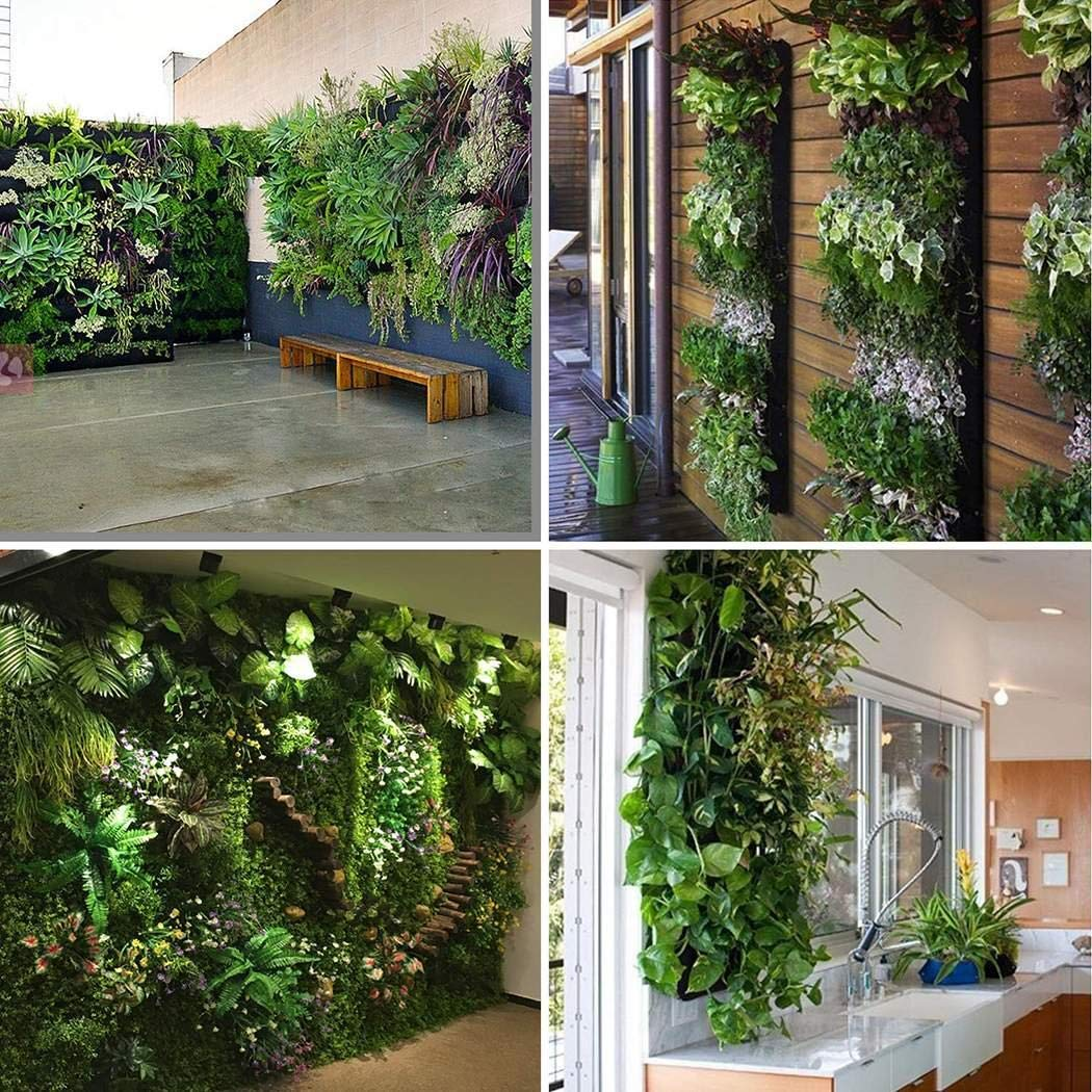 Zippem Household Garden Decoration Plants Wall Bag Planting Blanket 7-pockets Grow Bags
