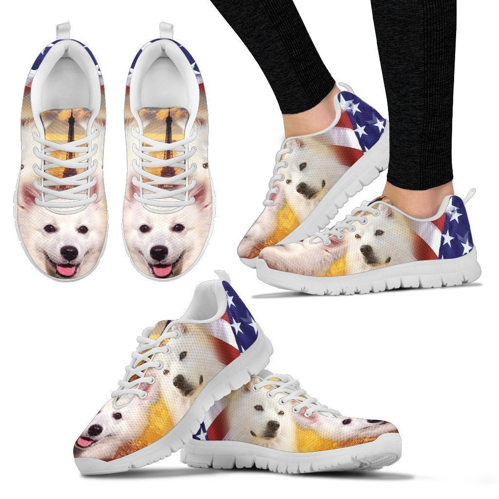 Petz Plus American Eskimo Print Running Shoes for Women-Casual Shoes