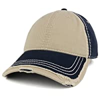 Armycrew Low Profile Washed Cotton Distressed Cap with Heavy Stitching