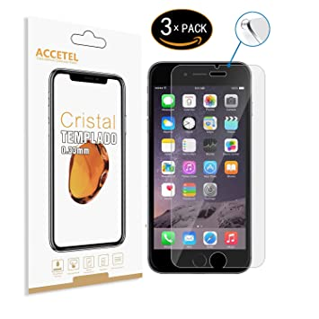 790a3729681 RE3O Apple iPhone 8 Plus/iPhone 7 Plus Protector Cristal Templado 3 x  Protector de