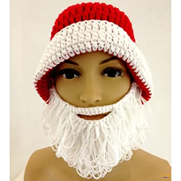 Image Unavailable. Image not available for. Color  Santa Beard Hat - Women  Men s Knitted ... ba704ecba29