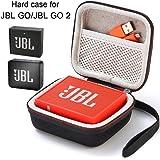 L3 Tech Étui pour JBL Go/JBL GO 2, étui de Transport Rigide pour JBL GO/JBL GO 2 Haut-Parleur Bluetooth sans Fil Portable (Boîtier Seulement, Haut-Parleur et Accessoires Non Inclus) - Noir