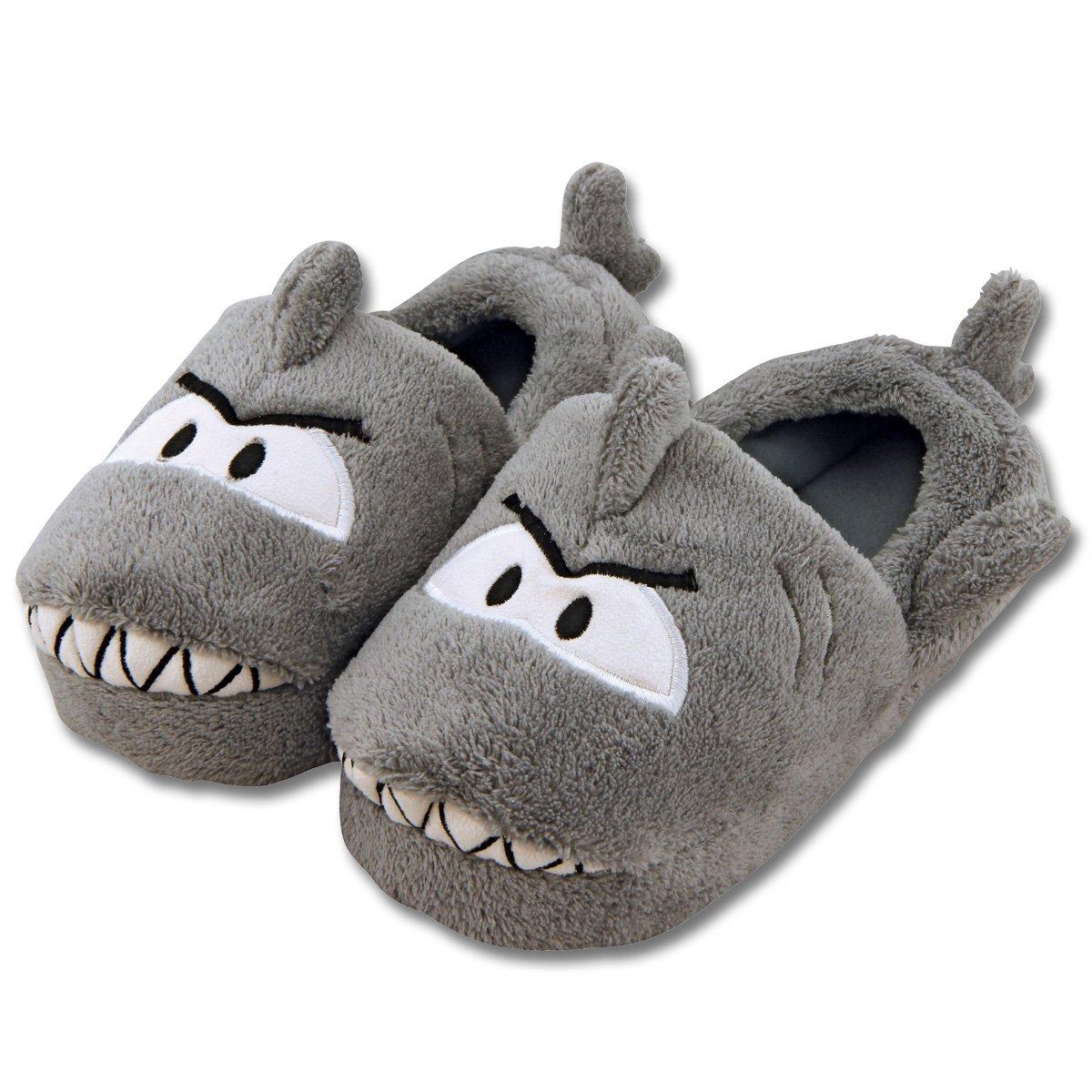 Stephen Joseph Toddler's Silly Slippers (Large, Shark)