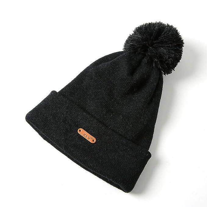 b86e34cf290 Knitted Hats for Women Men s Winter Hat Cap Unisex with Pompom Ball Women  Warm Caps Gorros