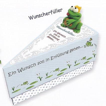 regalo caja Dinero regalo regalos pequeños deseos pluma trozo de tarta aprox. 9 x 11,5 x 6,5 cm: Amazon.es: Oficina y papelería