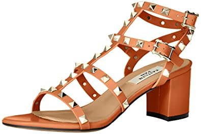 a59c7f4e7d54 Kaitlyn Pan Studded Block Heel Open Toe Sandal Tan-Brown