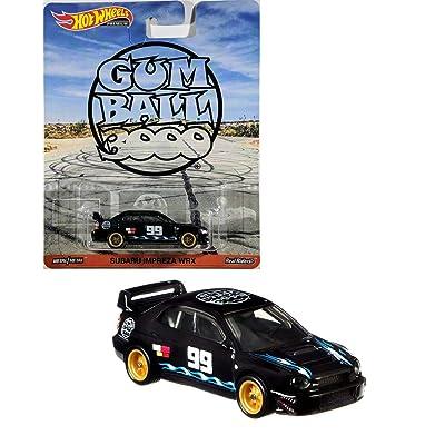 Hot Wheels Gum Ball Booo Premium Sabaru Impreza WRX, Black: Toys & Games