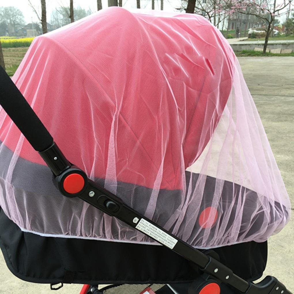 Hunpta@ Baby Stroller Mosquito Net, Mosquito Net Stroller Infants Baby Safe Mesh Bee Insect Bug Cover (Blue)