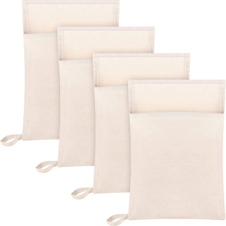 4 Piezas Bolsa Lewis Bolsa de Hielo de Lona Bolsa de Hielo Picado Reutilizable para Hielo Picado Hielo Seco