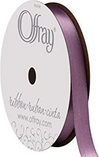 "product image for Berwick Offray 995822 3/8"" Wide Single Face Satin Ribbon, Amethyst Purple, 6 Yds"