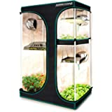 MARS HYDRO 2-in-1 Grow Tent 2'x3' 1680D Canvas High Reflective Mylar Hydroponic Grow Tents with Removable Floor Tray for…