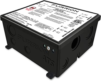 Amazon Com Furrion 50 Amp Automatic Transfer Switch For Rv To Changeover Input Between 125 250volt Ac Power Sources With Vibrationsmart Climatesmart Technology F50 Ats Automotive