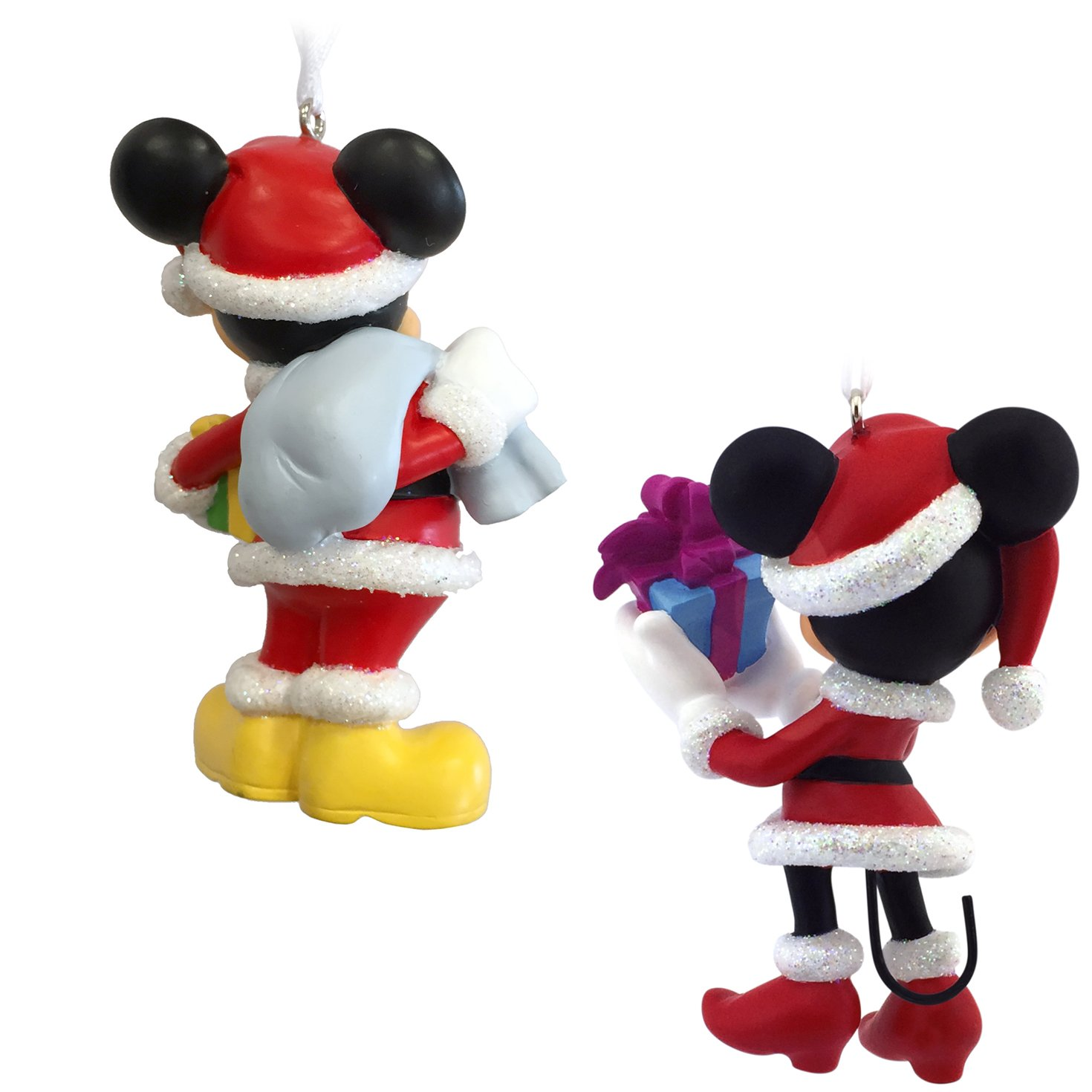 Amazon.com: Hallmark Disney Mickey Mouse and Minnie Mouse Santa ...