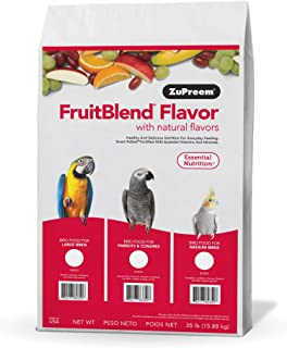 product image for ZuPreem FruitBlend Flavors Bird Food for Medium Birds, 35 LBS