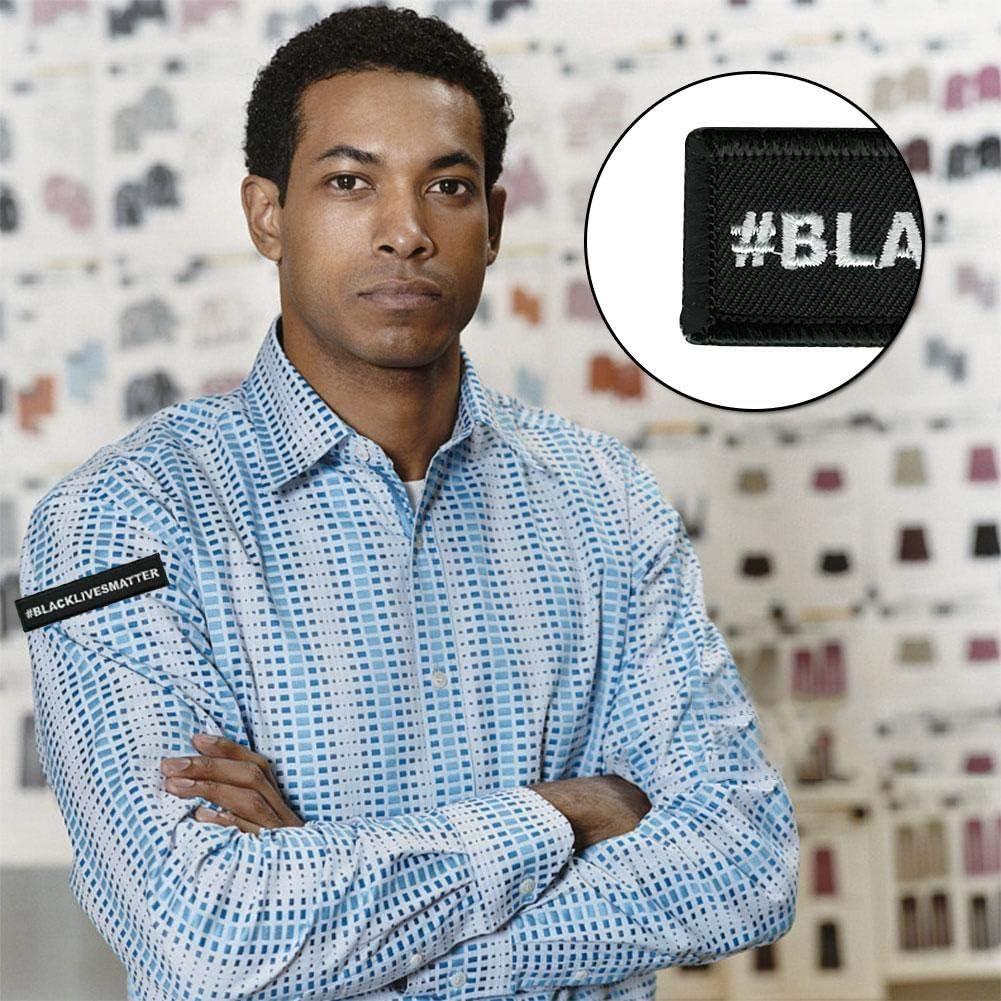 Black Lives Matter Patch dembl/ème de Broderie embl/ème rectangulaire pour lext/érieur Patch de Broderie embl/ème Bricolage