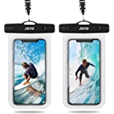 "JOTO Universal Waterproof Case, IPX8 Cellphone Dry Bag Pouch Underwater Case for S20(6.2) S20+ (6.7"") S20 Ultra 5G(6.9"") iPhone Xs Max XR XS X 8 7 6S Plus, Galaxy S10+ S10 S9 S8+/ Note 10 10+ 5G 9 8, Pixel 3a 4 XL up to 6.9"" -2 Pack, Clear"