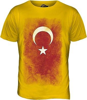 Pavo Descolorido Bandera - camiseta hombre Camiseta Top - algodón, Color Caramelo, 100% algodón 100% ringspun 100% machine, Hombre, XX-Large: Amazon.es: Ropa y accesorios