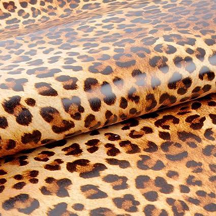 Yazi leopardo patrón Animal sintética resistente al agua ...