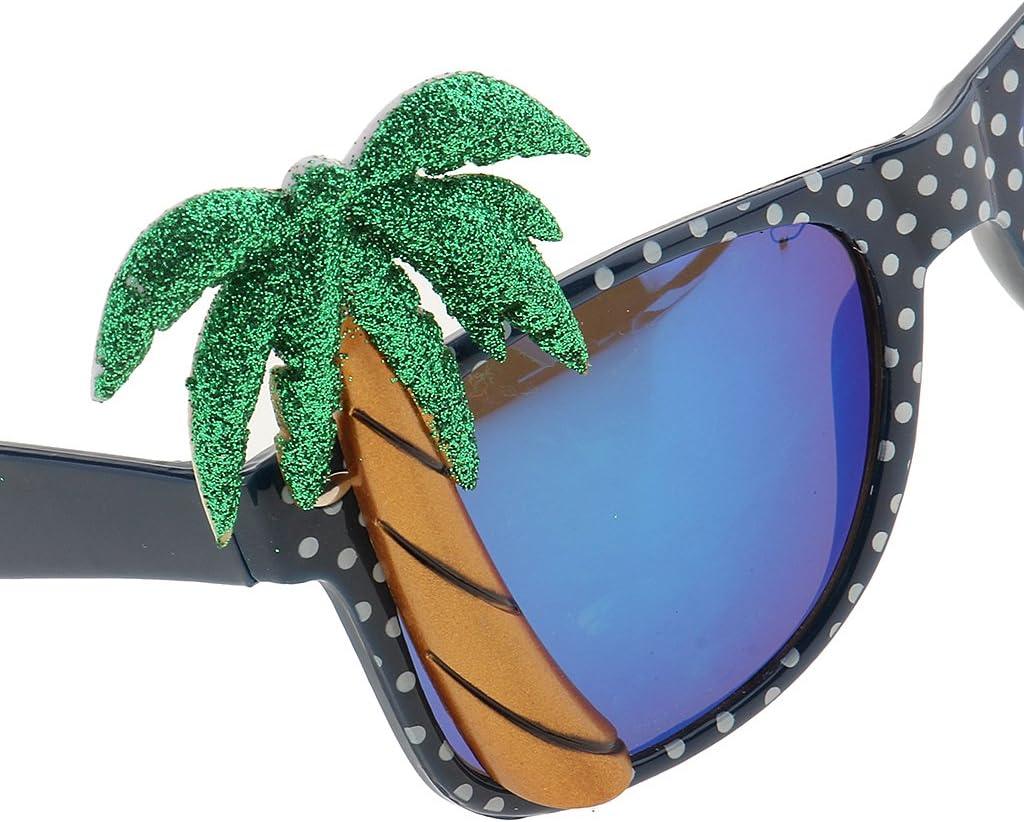Kokosnussbaum Papagei Sonnenbrille Spaßbrille Partybrille für Hawaiian Party
