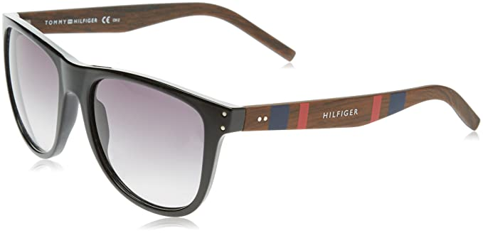 Tommy Hilfiger TH 1112/S JJ Gafas de sol, Black Dark Wood ...