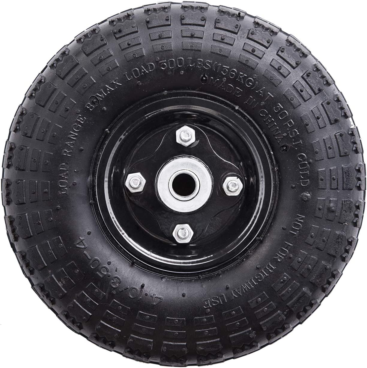Liberty Garden Products 4005 Replacement Metal Wheel, Black