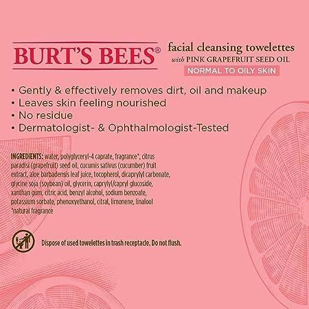 Toallitas húmedas Burts Bees. Toallitas húmedas para piel sensible, 30 unidades: Amazon.es: Belleza