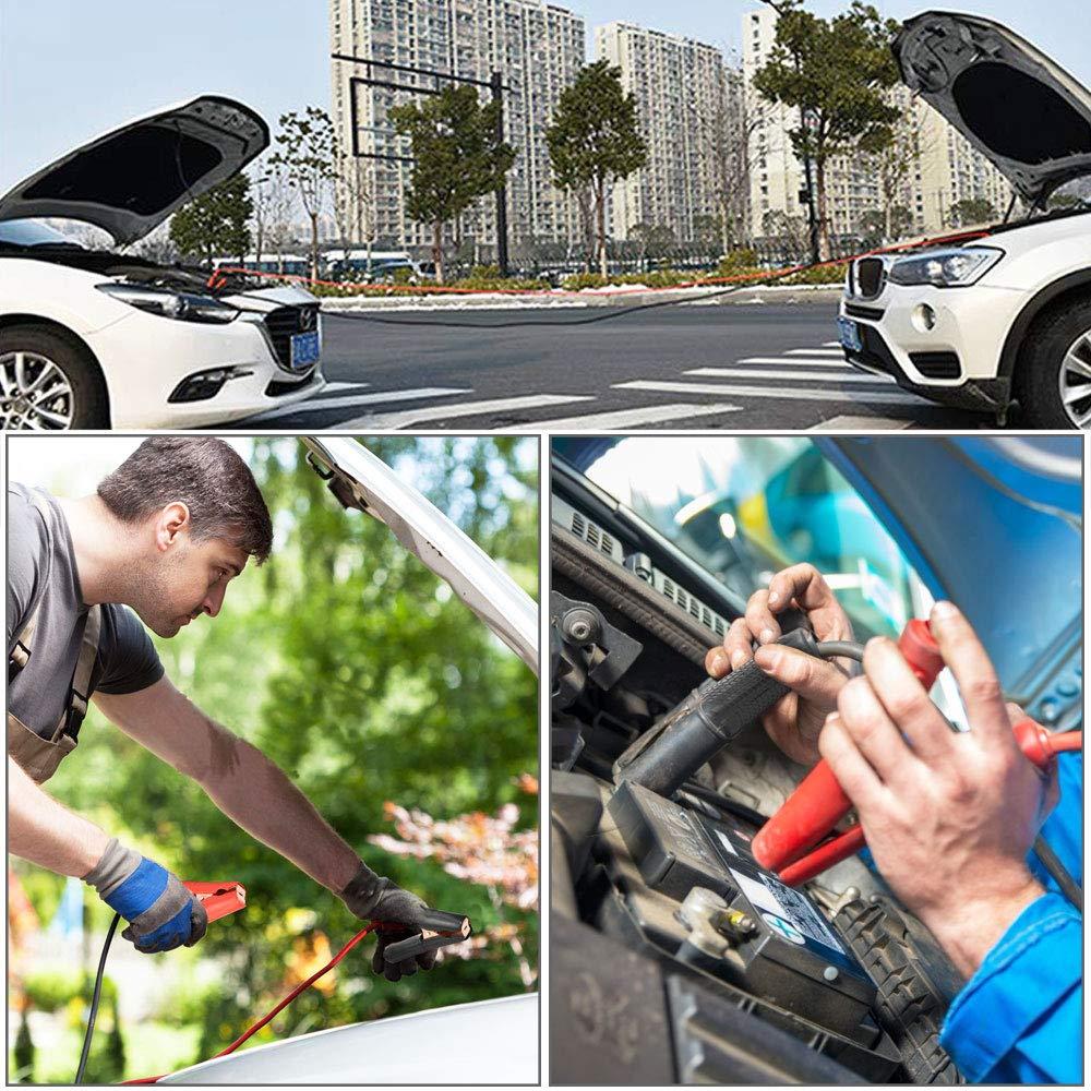 AFASOES 4Pcs Pinzas para Cables de Cocodrilo Pinzas de Arranque Cobre para Bater/ía Coche 100/A Moto Camion Abrazadera de Cocodrilo Asisladas para Cargar Bateria Auto con Mango Pl/ástico Envuelto