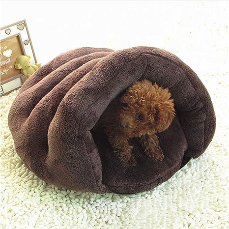 Wuwenw Mascota Nido Gato Camada Nido Perro Otoño E Invierno Cálido Gato Saco De Dormir Casa