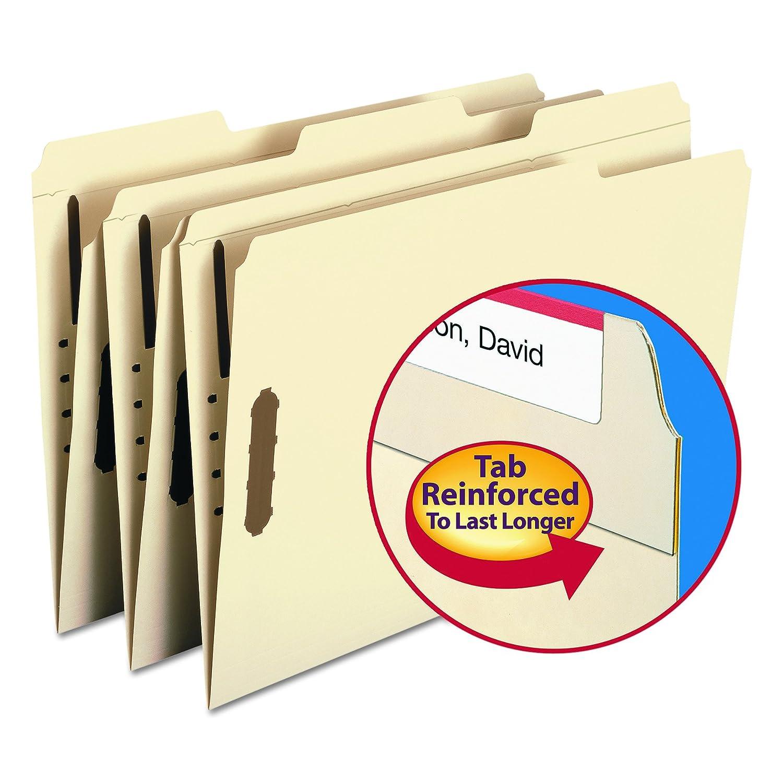 Folders, Two Fasteners, 1/3 Cut Assorted Top Tabs, Legal, Manila, 50/Box (並行輸入品) B000VA27P0