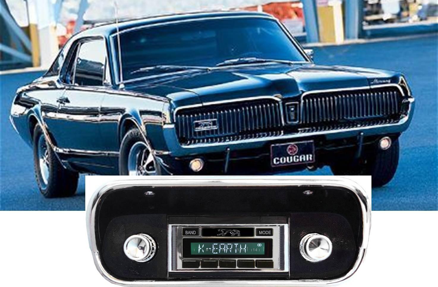 1967-1973 Mercury Cougar USA-630 II High Power 300 watt AM FM Car Stereo/Radio with iPod Docking Cable by Custom Autosound B019ZV749O