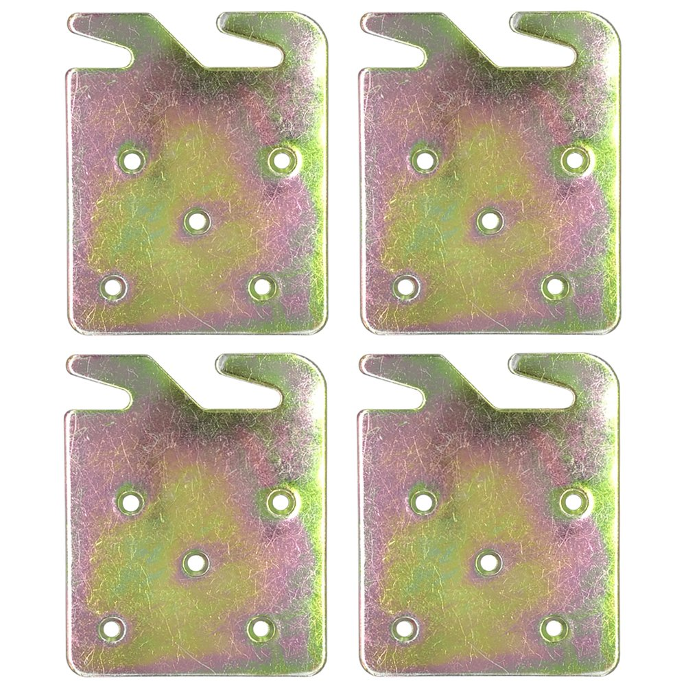 Richohome Wood Bed Rail Hook Plates - Pack of 4