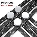 Regla de medición de múltiples ángulos, herramienta de metal completa hecha de aleación de aluminio de primera calidad - Gran regalo para artesanos, carpinteros y techadores por LOONG