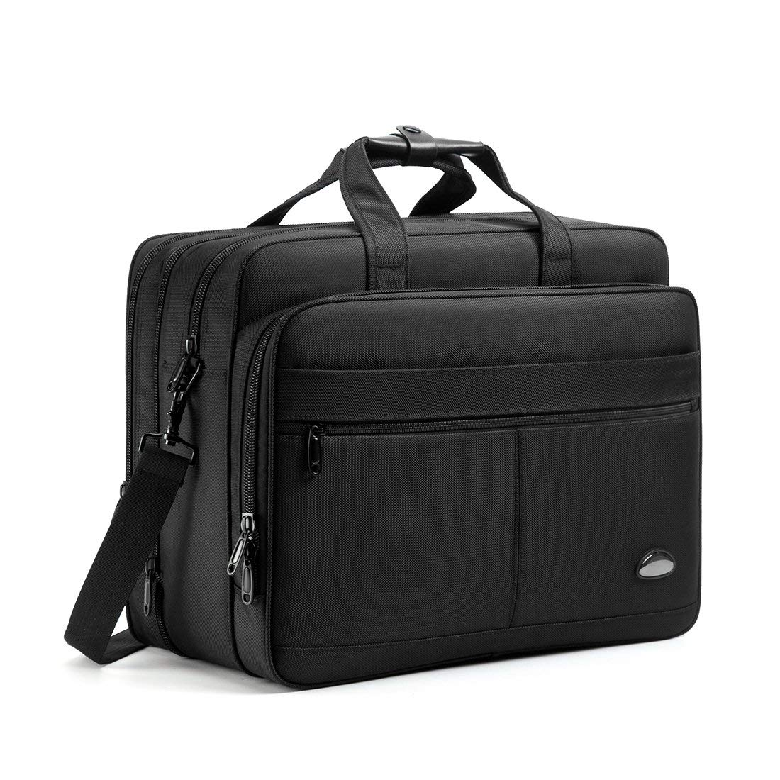 18-18.5 inch Laptop Bag,Water Resisatant Business Laptop Briefcase,Expandable High Capacity Shoulder Bag,Nylon Multi-Functional Shoulder Messenger Bag for Men Fits 17.3 inch Loptop,Computer,Tablet