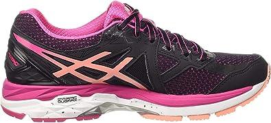 Asics Gt-2000 4 W, Zapatillas de Running para Mujer, Multicolor (Black/Peach Melba/Sport Pink), 37 EU: Amazon.es: Zapatos y complementos
