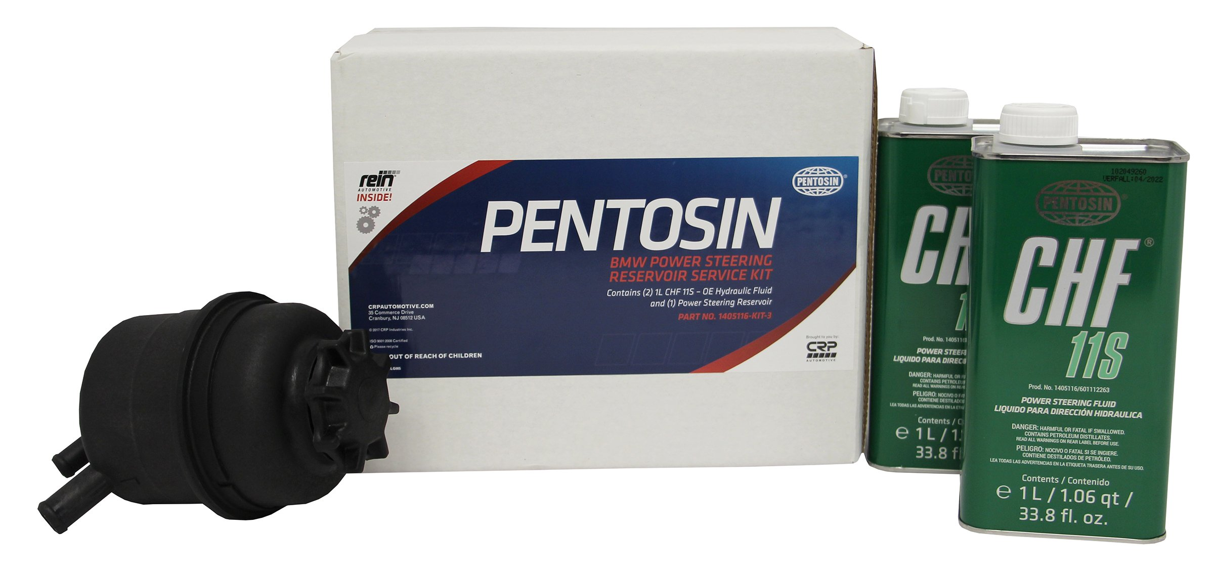 Pentosin 1405116-KIT-3 Power Steering Service Kit with Fluid & Reservoir, 1 l, 1 Pack